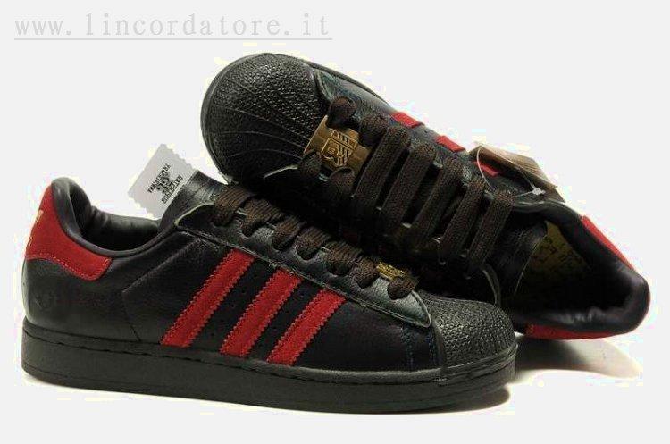 adidas superstar noir rouge