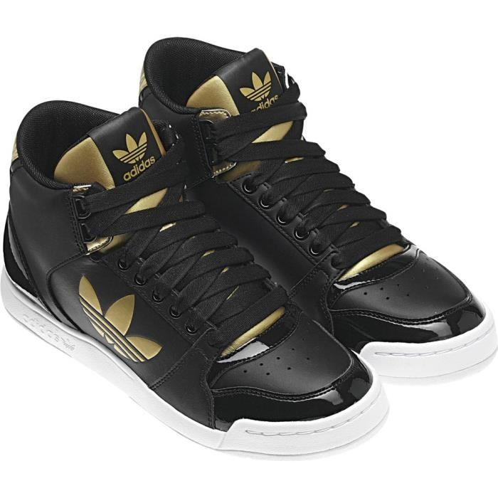 chaussures adidas femme noir et or