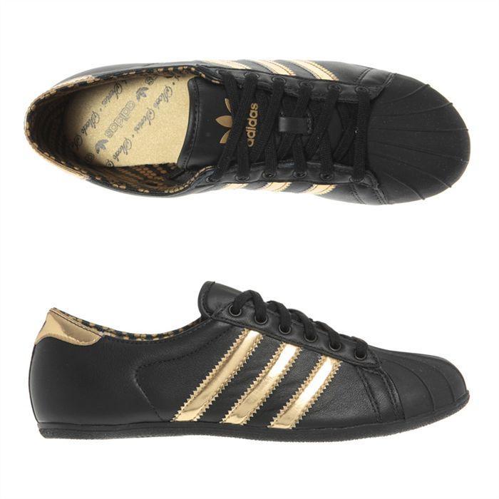Acheter basket adidas noir et or femme pas cher