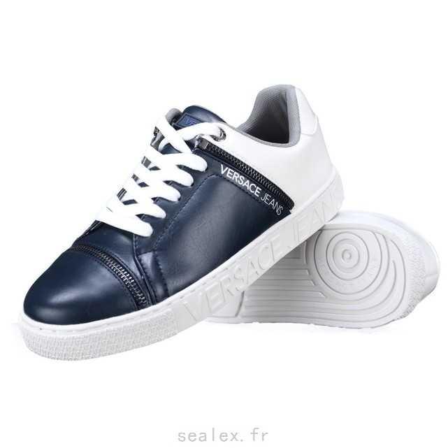 2018 France Chaussures Hommes - Acheter authentique Versace Jeans SADALA  Noir Bleu Homme Baskets mode Homme Vente . d05a497570f