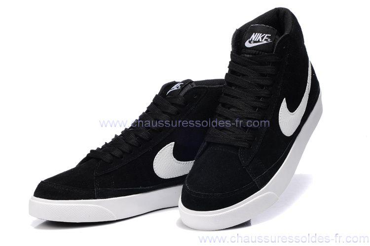 38bb4ee03a Le meilleur de tous Homme NIKE Noir Basket Montante Nike Blazer Chaussures
