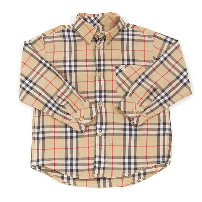Burberry Robe chemise en coton à motif check femme Vêtements Robes Beige  clair,burberry soldes bebe,Meilleur Prix Garanti 06f9893352ff